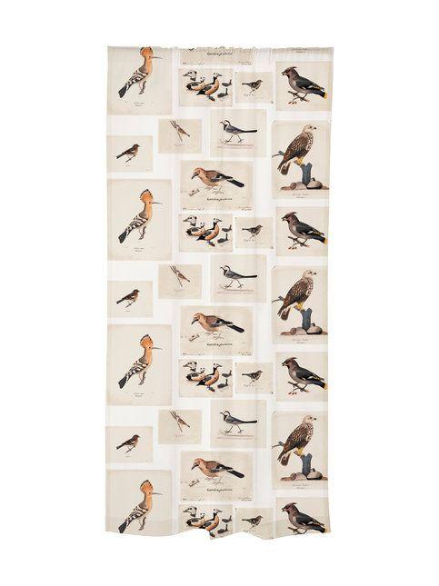 Vallilan Linnut on toteutettu yhteistyössä Vallila Design Studion ja Ateneumin taidemuseon kanssa Von Wrightin taitelijaveljesten kuvamaailmaan perustuen. Von Wrightin kolmen veljeksen maalaukset linnuista olivat erittäin realistisia ja nyt nämä klassikot pääsevät jokaisen seinälle ihaltavaksi.  <br><br/> Valmisverhon mukana tulee liimapintainen lyhennysnauha, jolla verhon voi lyhentää helposti silittämällä. Verhon ylälaidassa on kiristettävä nauha rypytystä varten.