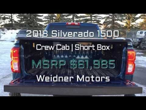 2018 Chevrolet Silverado 1500 / Crew Cab, Short Box / Blue, 1LZ, 4X4 / 1...