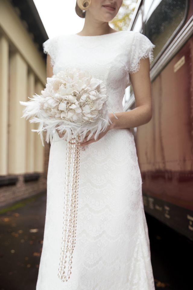 how to make an art deco wedding dress