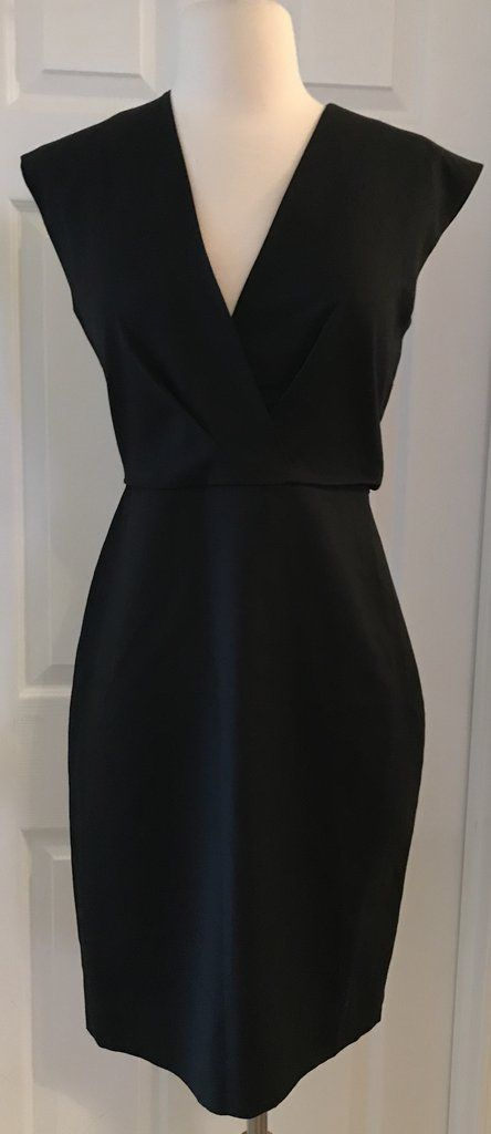 030b17dcc7 J.crew petite v-neck dress in super 120s wool size 0p black f6094 ...