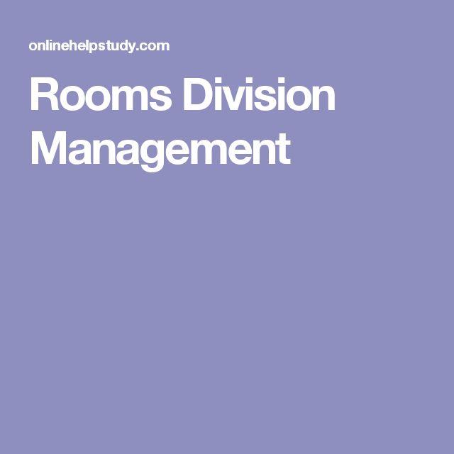 Rooms Division Management