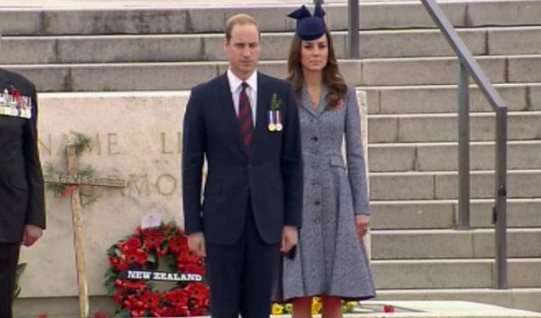 Catherine and William at the Anzac Day ceremony in Canberra, 25 April 2014