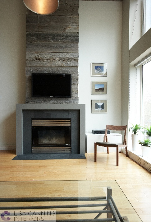 Nice Full Wall Installation Of Fireplace And TV
