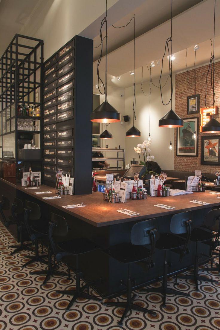 Ellis Gourmet Burger Interior Design Restaurants Bars