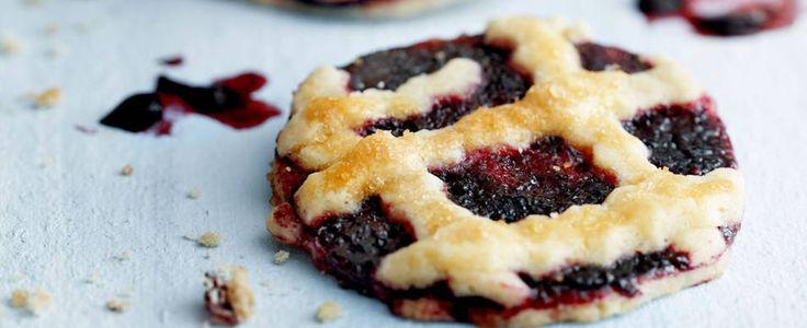 Blåbærpai-cookies