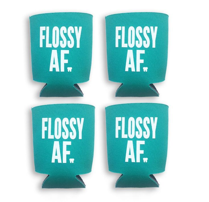 Flossy AF - PK dental koozie