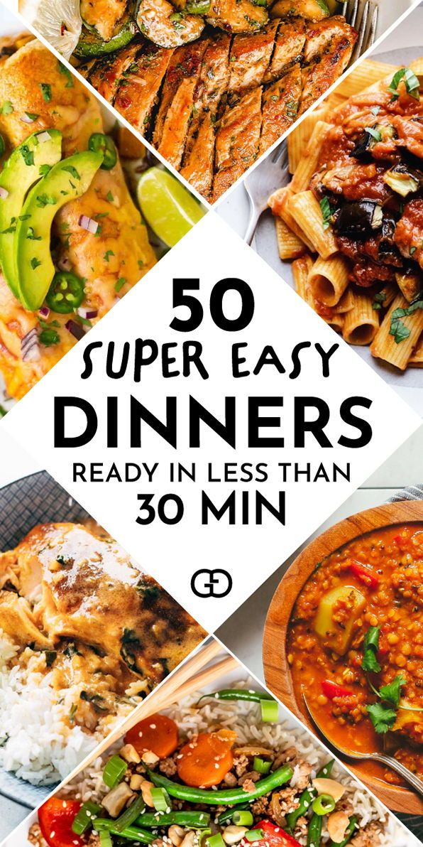 50 Quick And Easy Dinner Recipes Anyone Can Cook Recipe Easy Dinner Easy Dinner Recipes Dinner Recipes Easy Quick