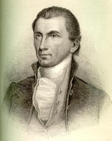 James Monroe, American Revolutionary War Hero and later President of the United States.