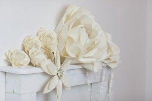 Flow Art Decor,  paper flower , wedding decorations   papírvirág fotóháttér