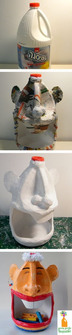 An empty plastic bottle repurposed but could be more attractive for use as plastic bag holder or something else?