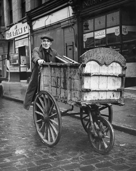 A Poplar Borough Council dustman, London 1952.