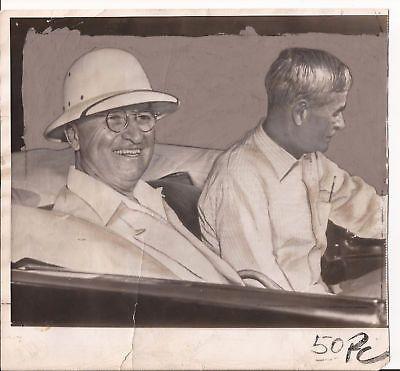 HARRY TRUMAN PHOTO 1949 KEY WEST FLORIDA ROSS PRESIDENT