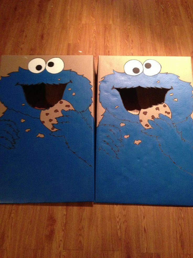Cookie Monster Cornhole | Elmo & Sesame Street Parties ...