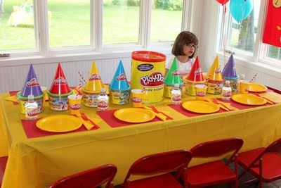 Play doh Birthday Party...