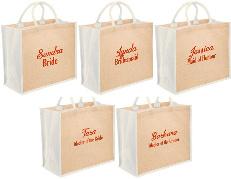 Personalized Bridal Tote Bags with name and title