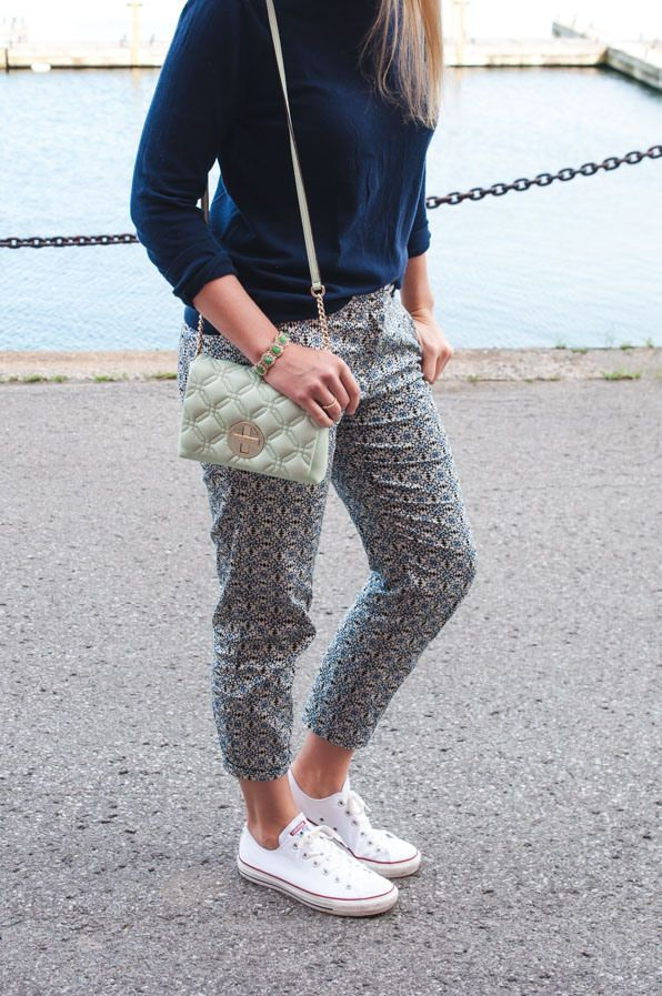 Printed Pants and Converse