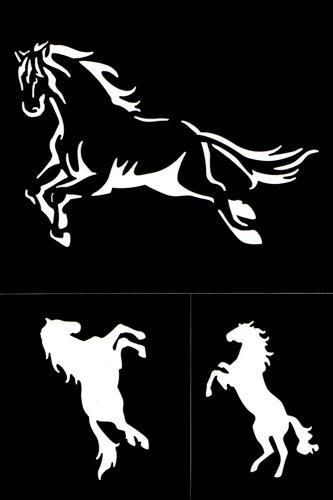 Šablony | Samolepící flexibilní šablona - kůň | KREATIV Ostrava