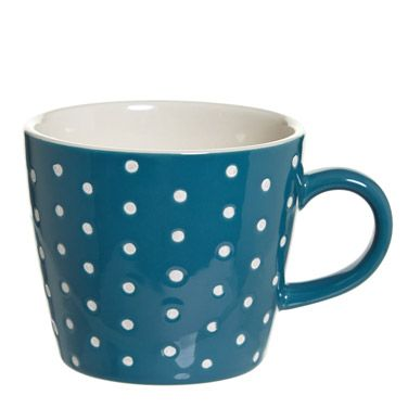 teal Carolyn Donnelly Eclectic Embossed Mug