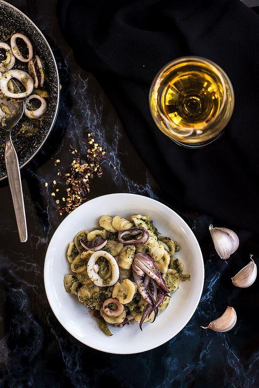 Orecchiette con broccoli e calamari - Teresa Balzano