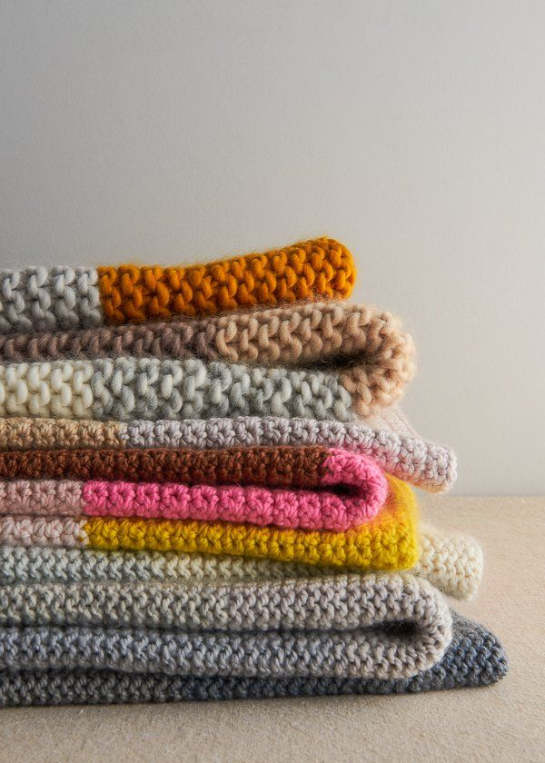 Super Easy Blankets in New Colors | Purl Soho