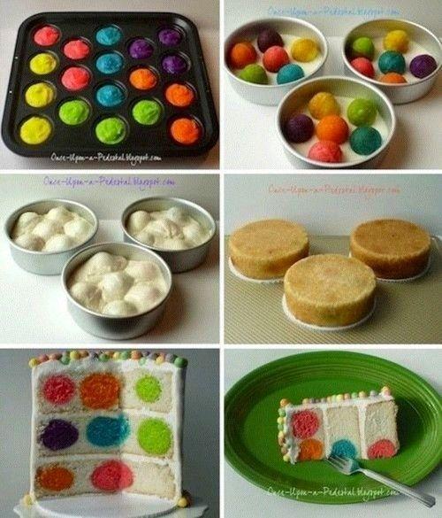 DIY colorful cake