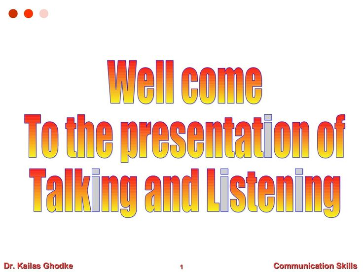 Communication skills by Sanjeev Kumar via slideshare