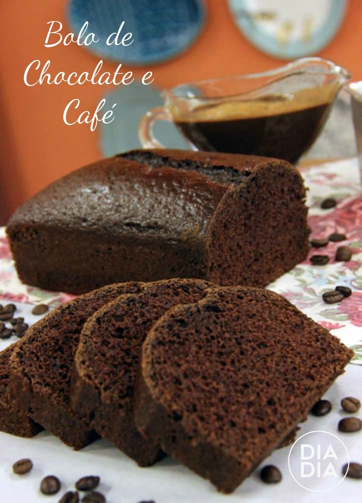 Bolo de Chocolate e Café com Calda de Capuccino
