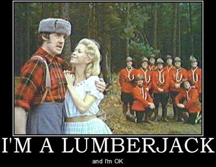 Im A Lumberjack Monty Python British Humor Lumberjack Song