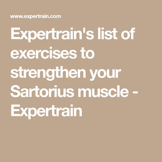 Expertrain's list of exercises to strengthen your Sartorius muscle - Expertrain