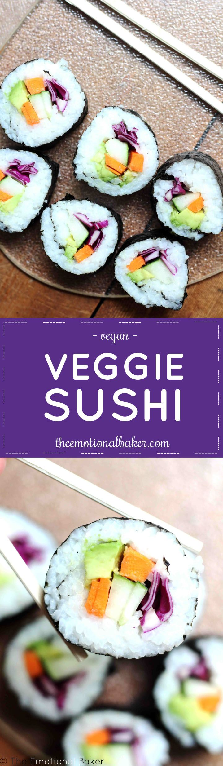 Yes! You CAN make sushi at home. This easy vegan and vegetarian friendly recipe features avocado, carrot, cucumber and red cabbage. Expert produce selector. Any of those around?? Well, it's not me. Remember how I waste time trying to make … Continue reading →