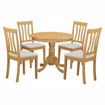 east west furniture antique 5 piece pedestal round dining table, Esstisch ideennn