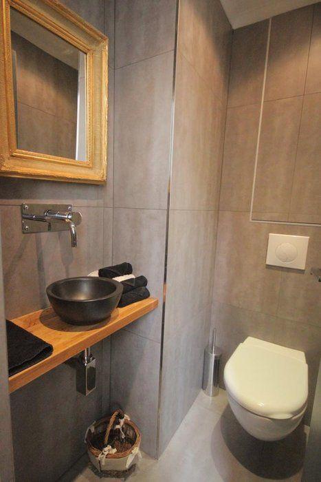 Belle décoration toilettes gris
