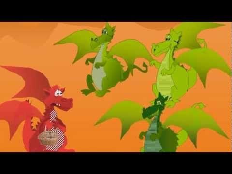 Cuentos para niños.- El dragón color frambuesa.
