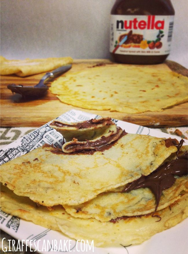 Happy pancake day! - British style pancakes with nutella