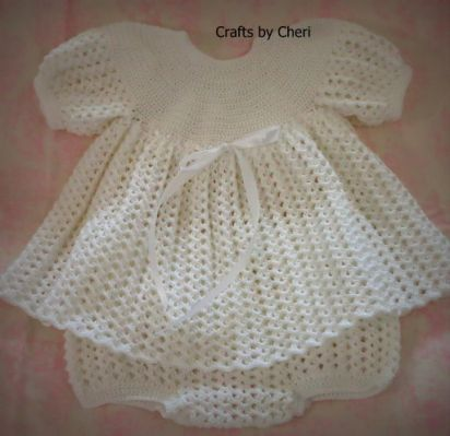 crochet baby dress, baby first