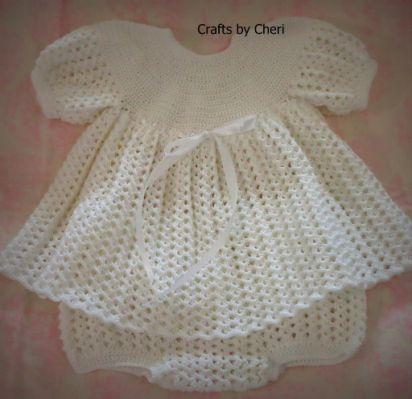 crochet baby dress, baby first