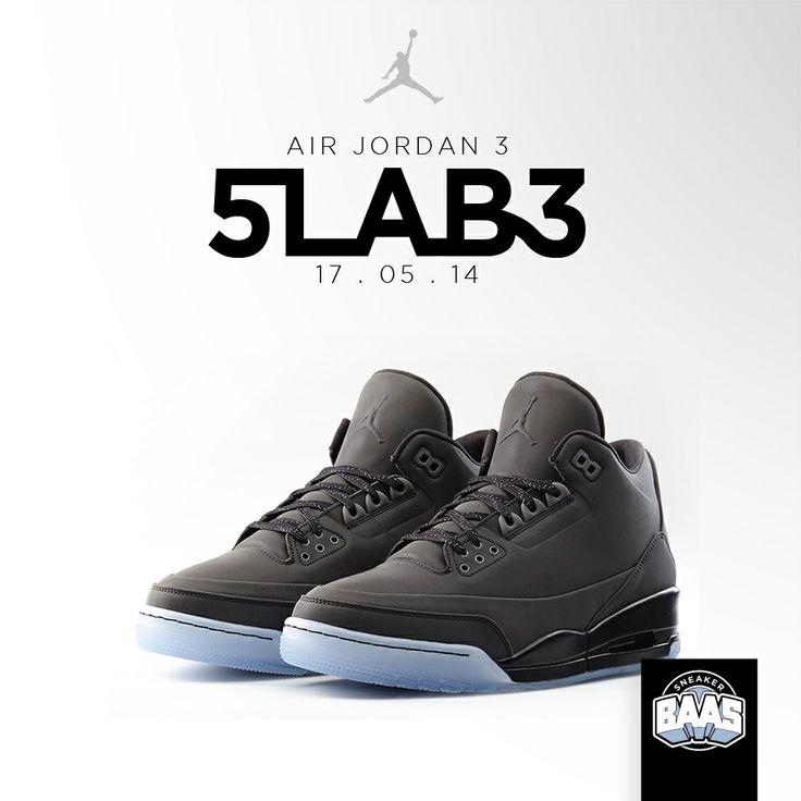 Air Jordan 3 5LAB3 | Deze zaterdag! | www.sneakerbaas.nl | #BAASBOVENBAAS #5LAB3 #SNEAKERBAAS #BLACK | 631603-010