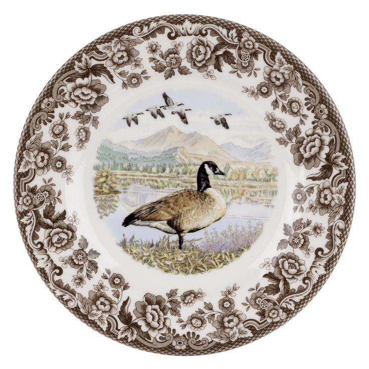 Spode Woodland Canada Goose Dinner Plate