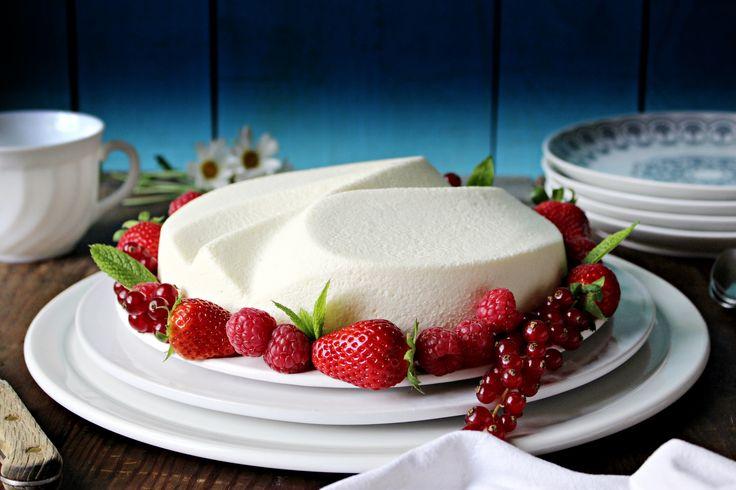 Tarta de mousse de chocolate blanco :: Pěnový dort z bílé čokolády