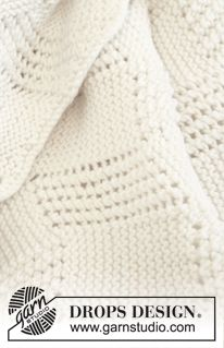 "Knitted DROPS blanket in ""Merino Extra Fine"". ~ DROPS Design"