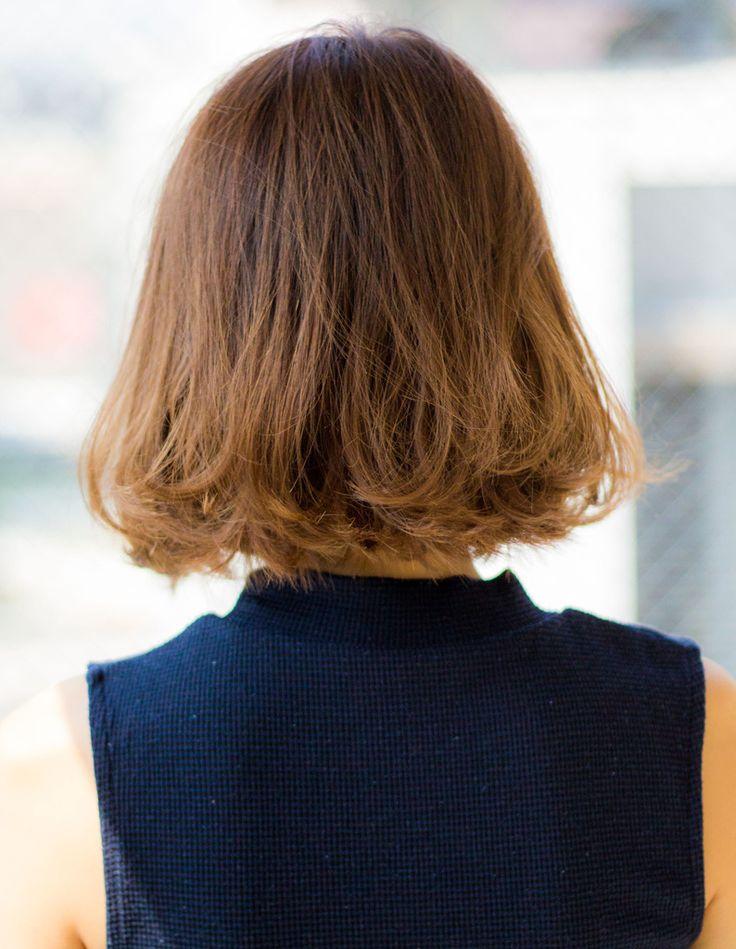 大人かっこいい外ハネボブEN-38 | ヘアカタログ・髪型・ヘアスタイル|AFLOAT(アフロート)表参道・銀座・名古屋の美容室・美容院