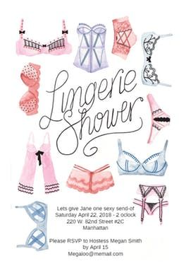 Free Bridal Shower Invitations Templates Lingerie Shower  Free Bridal Shower Invitation Template  Greetings .