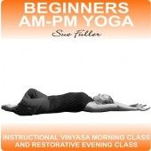 Beginners AM-PM Yoga contains two easy to follow yoga classes.  One to be performed in the morning and the other in the evening.  This enables you to engage in a complete practice divided into two halves to easily fit into your day.