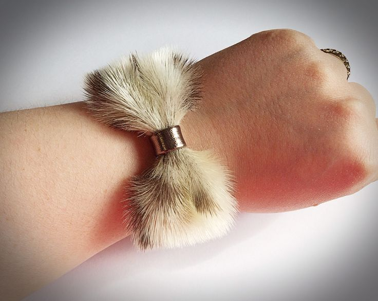 Sealskin Bow Tie Cuff :: Made by Tundraberry