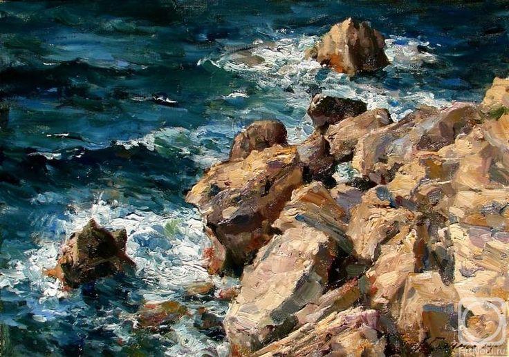Галимов Азат. Ноябрьское море. Побережье Кипра. Эмба