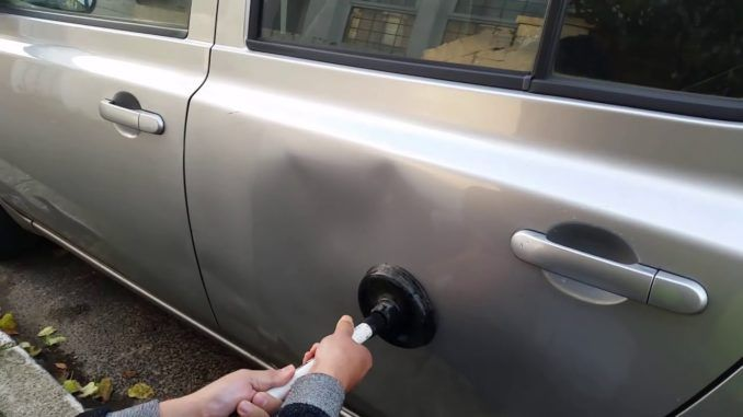 How To Remove Dents From Car Door Panel Car Dent Repair Remove Dents From Car Car Dent