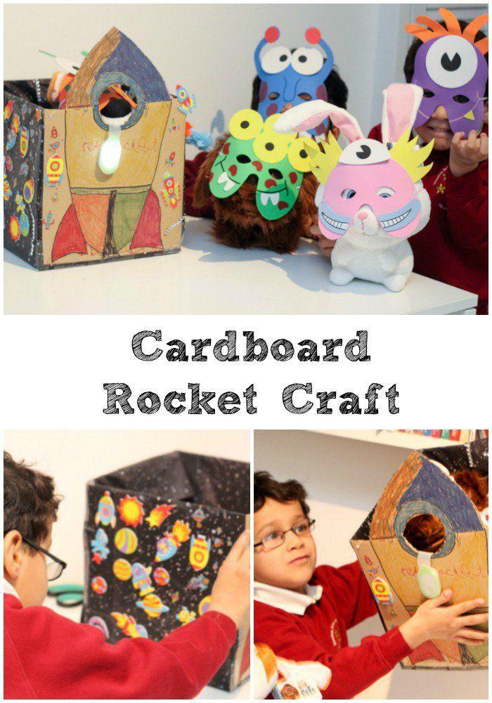 картонная ракета ремесло для детей