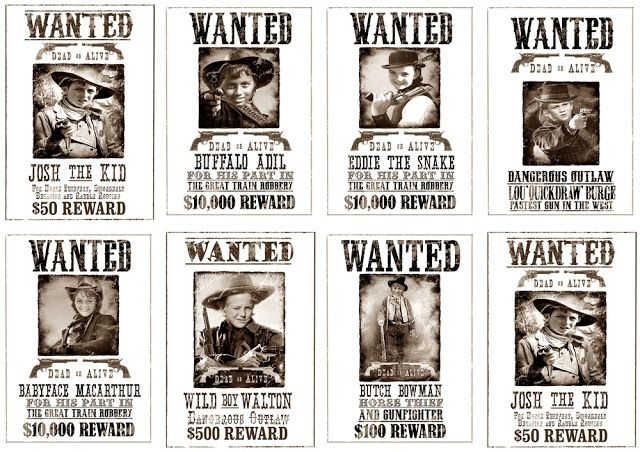 Greatfun4kids: Wild West Party How To's (with Free Printables)
