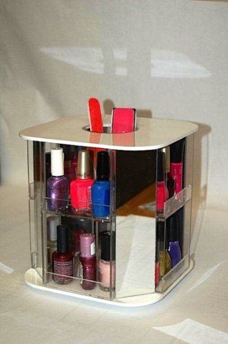 Medium White Nail Polish Carousel by United Products, LLC, http://www.amazon.com/dp/B009IV1BHS/ref=cm_sw_r_pi_dp_w6k8qb07ZBY3W