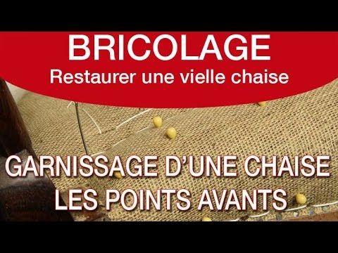 """garnissage chaise """" le point avant""""www.cocoongallery.fr - YouTube"""